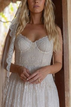 Romantic bohemian style wedding dresses by Spell Designs Bohemian Style Wedding Dresses, Best Wedding Dresses, Ball Dresses, Ball Gowns, Bohemian Hairstyles, Wedding Hairstyles, Vintage Dresses, Spell Designs, Romantic