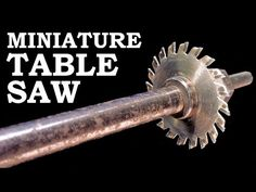 Homemade mini table saw - diy dremel saw- testere - YouTube