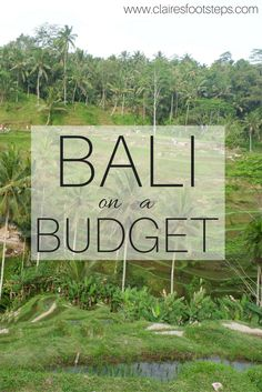 How to travel to Bali even if you're on a budget. #budgettravel #bali #asia