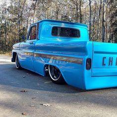 """ SINISTER selling for my partner Kevin., For more videos… Custom Pickup Trucks, Classic Pickup Trucks, Chevy Pickup Trucks, Gmc Trucks, Cool Trucks, 1966 Chevy Truck, Chevy C10, Chevy Pickups, Chevrolet Trucks"