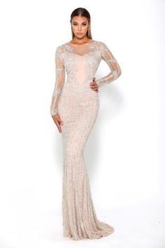 Shop prom and more Modest Dresses at SHAIDE BOUTIQUE: Evening gowns, formal dresses, black tie, red carpet and special occasion dresses for ladies. Evening Gowns Uk, Silver Evening Gowns, Long Sleeve Evening Gowns, Glam Dresses, Date Dresses, Modest Dresses, Wedding Party Dresses, Bridal Dresses, Party Wedding
