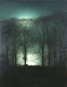 Figure in the Moonlight: John Atkinson Grimshaw, English 1836-1893.