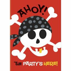 Celebrate with the Pirate Birthday Invitations for your Pirate party. Find amazing selections & prices on all party decorations & supplies at Birthday in a Box. Pirate Birthday Invitations, Party Invitations Kids, Kids Party Rentals, Pirate Party Supplies, Sweet Party, Batman Party, Kids Party Themes, Party Ideas, Pirate Theme