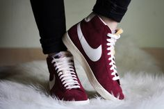 womens nike blazer mid suede vintage trainers