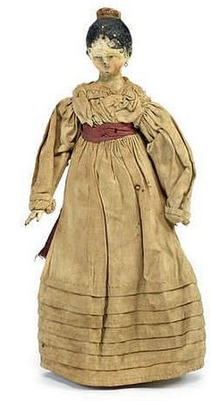 Bonhams Auctions - 8.5 Inches Grodnertal painted wooden doll, German circa 1820.jpg