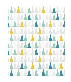Papier Peint Support Intissé Thalie Jaune/Vert/Bleu - Revêtement sol et mur