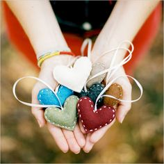 heart holiday ornaments