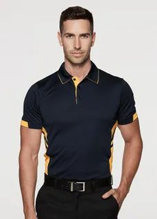 MENS POLOS Black Neon, Black White Red, Navy And Green, Navy And White, Work Uniforms, Team Wear, Colored Highlights, Work Wear, Custom Clothing