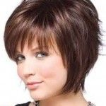 short hairstyles for fine hair and double chin