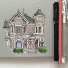 Phoebe Atkey http://ift.tt/2hL6UqW #art #architecture #drawing #illustration #sketch #sketchbook