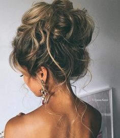 10 Pretty Messy Updos for Long Hair: Updo Hairstyles 2017 A hairstyle, hairdo, or haircut refers to Updos For Medium Length Hair, Prom Hairstyles For Long Hair, Short Hair Updo, Trendy Hairstyles, Braided Hairstyles, Teenage Hairstyles, Homecoming Hairstyles, Curly Hair, Ladies Hairstyles