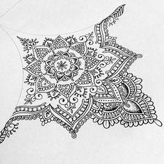 Olivia Fayne sternum mandala design