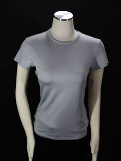 b0e27d307f2607 Apt 9 Stretch Silver Gray Short Sleeve Top Size Medium New with Tags  Apt9