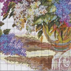 It's simple, free and blazing fast! Cross Stitch Designs, Cross Stitch Patterns, Cross Stitching, Cross Stitch Embroidery, The Diagram, Flower Vases, Needlework, Canvas, Painting