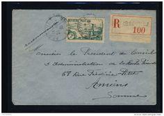 VENTE FLASH Lot B_091 - 1935 - N°301 2fr RIVIÈRE BRETONNE SEUL SUR LSC RECOMMANDÉE D'ABBEVILLE À AMIENS - Delcampe.net