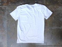 SOP Garment Dyed Pocket Tee White