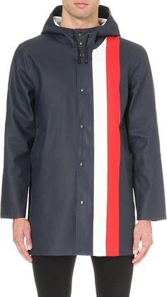 Stutterheim Stockholm Striped Rain Mac - For Men in Blue for Men (Navy red white)