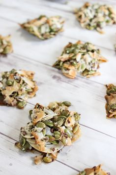 Crunchy Coconut Clusters - Mommy Gone Healthy Healthy Eating Recipes, Healthy Treats, Paleo Recipes, Low Carb Recipes, Cooking Recipes, Snacks Recipes, Healthy Food, Dessert Recipes, Kitchens