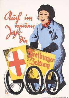 Freiburger Zeitung - Auch im neuen Jahr - 1930's - (Albert Rose) -