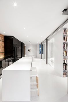 Long and Lean: K&B Stars in Montreal Apartment Renovation #design #interiordesign #interiordesignmagazine #architecture #furniture #kitchen