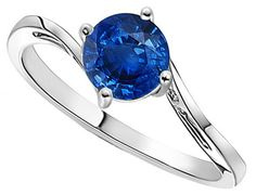 Classic Curved Solitaire Sapphire Ring