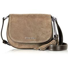 9e78751f57a3 Michael Kors Damen Elyse Medium Black Leather Saddle Bag - reduziert ($310)  ❤ liked