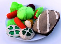 Corned Beef and Cabbage Felt Food Dinner by MamasFeltCafe on Etsy, $19.00
