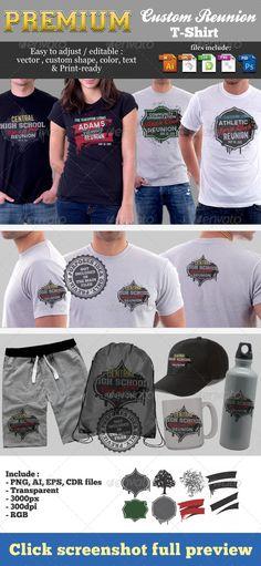 Premium Custom Reunion T-Shirt Template PSD, Vector EPS, AI. Download here: http://graphicriver.net/item/premium-custom-reunion-tshirt-template/5697033?ref=ksioks