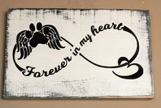 This sign will be a cherished keepsake for the person who is grieving from pet loss. Give the gift of comfort with this handcrafted sign and they will treasure #DogTattooIdeas