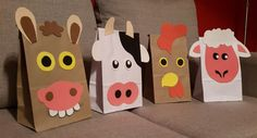 Aubrey's Birthday (Farm Theme) Farm Animal Party, Farm Animal Birthday, Barnyard Party, Farm Birthday, Farm Party, 3rd Birthday Parties, Petting Zoo Party, Paper Bag Crafts, Paper Bag Puppets