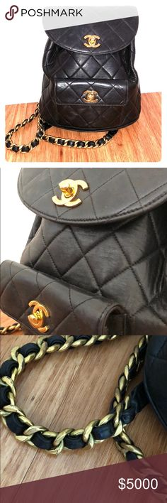 a3dd5a85c8a56 Vintage Chanel black back pack Collectors item. Very rare. Beautiful  condition! CHANEL Bags