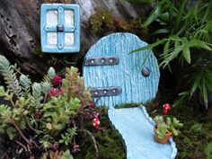 Hobbit Door, Window & Pathway Set - Fairy Garden Decor