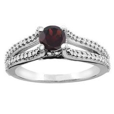 garnet rings black gold - Google Search