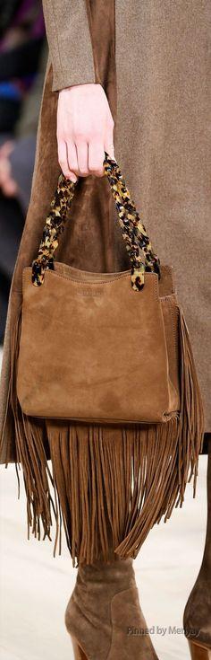 Ralph Lauren.~ Fall Suede Handbag w Fringe, Camel, 2015.