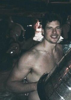 Sid swimming with Lord Stanley