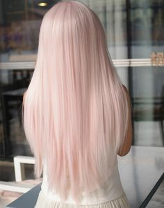 Red or Pink Hair Color Tones-Haare pastell , inspirierende modelle zu testen Pastel Pink Hair, Baby Pink Hair, Pale Pink, Long Pink Hair, Pink Blonde Hair, Pastel Wig, Long White Hair, Pale Blonde, Brunette Hair