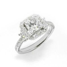 Princess Cut Engagement Ring With Side Stones 47