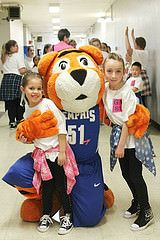 Tiger cubs love meeting Pouncer!
