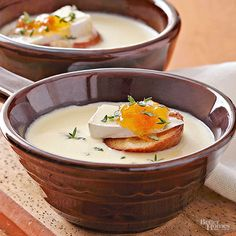 If you love baked Brie then you will love this soup. This Creamy Brie Soup has all the rich delicious flavors of the cheese but even better in a creamy warm soup. Dress it up with a toasted cracker, a slice of Brie and a dollop of jam on the top.