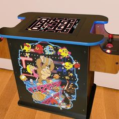 Relive all the classics of the arcade games without the need to insert all your quarters! This 2 player cocktail cabinet features 412 retro games in one machine to provide countless hours of fun and nostalgia. Game Room Design, Gaming Merch, Retro Games, Just A Game, Donkey Kong, Medusa, Arcade Games, Toy Chest, Otaku