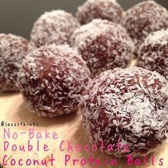 No-Bake Chocolate-Coconut Protein Bites