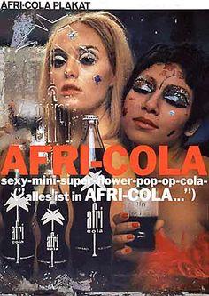"sexy-mini-super-flower-power-pop-op-cola ~~~~ ""alles ist in AFRI-COLA"""