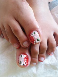 Cute Pedicure Designs, Fall Nail Designs, Toe Nail Designs, Pretty Toe Nails, Pretty Nail Colors, Toe Nail Color, Toe Nail Art, Purple And Pink Nails, Cute Pedicures