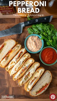 An absolute tailgate hit! This pepperoni roll is the perfect game day snack - packed with meats, cheeses, and sweet peppers it's here to please. Pepperoni Bread, Pepperoni Rolls, Best Appetizer Recipes, Recipes Appetizers And Snacks, Great Appetizers, Grilling Recipes, Snack Recipes, Tailgate Appetizers, Picnic Sandwiches