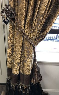 Reilly-Chance Collection Semi-Annual Drapery & Hardware Sale - Friday, March - April Sunday at midnight. Fabric swatches available to confirm color match upon request. Tuscan Curtains, Dining Room Curtains, Living Room Drapes, Luxury Curtains, Home Curtains, Curtains With Blinds, Burlap Curtains, Modern Curtains, Valances