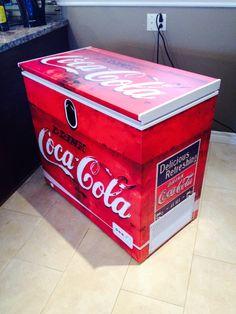 Special coca-cola custom freezer... Graphic design + printing