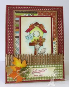 Grateful for You Card by Melody Rupple #Cardmaking, #Thanksgiving