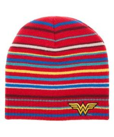 OFFICIALLY LICENSED DC COMICS WONDER WOMAN KNITTED BOBBLE HAT BEANIE
