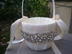 Wedding Flower Basket, Flower Girl Basket, Rhinestone Flower Basket  - Style BK1006 on Etsy, US$37,95