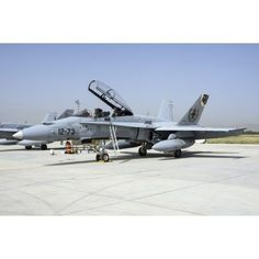 A Spanish Air Force EF-18M Hornet at Exercise Anatolian Eagle Canvas Art - Daniele FaccioliStocktrek Images (17 x 12)